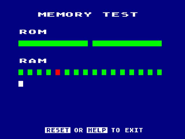 Fatrat's BeOS Projects: Atari Memory Test Screenshots